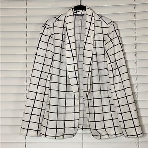 Plaid Blazer striped Black & White worksuit